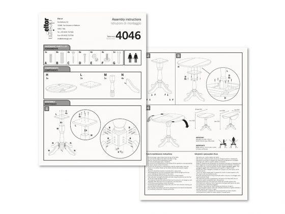 Eltor Istruzioni Tavolo 4046